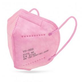 Máscara Rosa FFP2 padrão EN149: 2001 filtro respiratório com marcação CE