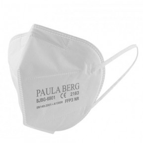 Masque FFP3 Paula Berg norme EN149: 2001 Filtrage respiratoire Marqué CE