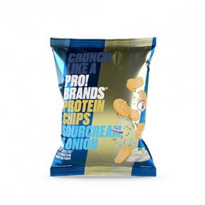 Chips de Proteína Sabor Creme Azedo e Cebola Pro!Brands 50g