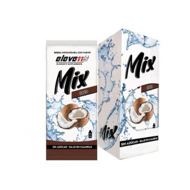 Pacote de 12 Envelopes Bebidas Mix com Sabor Coco ElevenFit 9g