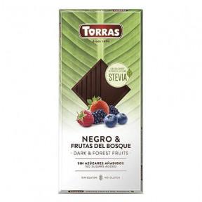 Chocolate Amargo com Frutas da Floresta e Stevia Torras 125g