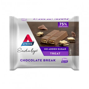 Bar Low Carb Chocolat Break Endulge de Atkins Multi Pack 3 x 21,5g