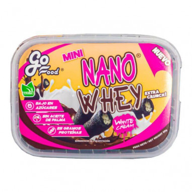 GoFood Mini Nano Whey Wafers Filled with White Cream 90g