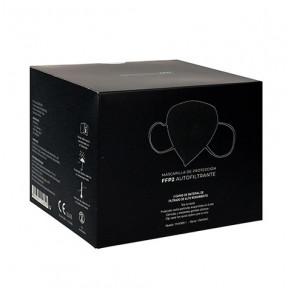 Box of 25 FFP2 black masks standard EN149: 2001 CE marked respiratory filtering