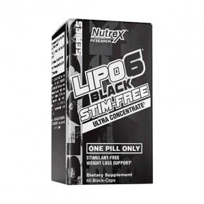 Nutrex Research Lipo 6 Black Stim-Free 60 cáps.