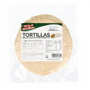 Tortillas Reducidas en Carbohidratos CSC Foods 240g (6x40g)
