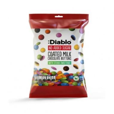 Botones de Chocolate con Leche Sin Azúcar :Diablo 40g
