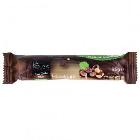 Barra de Chocolate de leite com baixo teor de carboidratos com estévia e avelã LaNouba 35g grátis