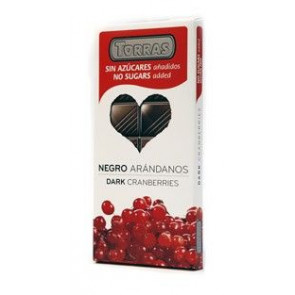 Dark Chocolate with Cranberries Sugar Free Torras 150 g