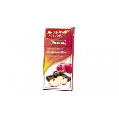 Black Chocolate with Strawberries Sugar Free 75g Torras