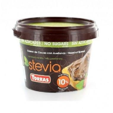 Pâte à Tartiner Cacao avec Noisettes Sucrée à la Stevia Torras 125g