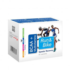 Complejo Recuperante BCAA + Multivitaminas Run & Bike 10 bolsitas 50 mg