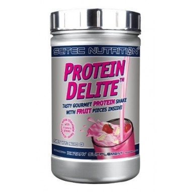 Strawberry White Chocolate Protein Delite Protein Shake with fruit pieces Scitec Nutrition
