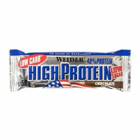 40% Low Carb High Protein Bar Weider Chocolate Flavour 50 g