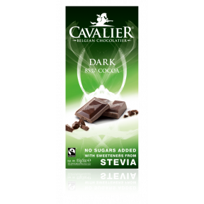 Cavalier Belgium Dark Chocolate with stevia 85 g