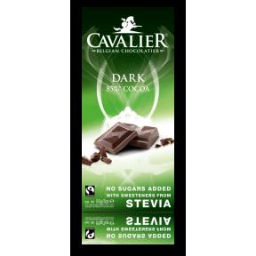 Chocolate preto Belga com estévia Cavalier 85 g