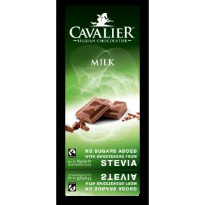 Chocolate con leche Belga con Estevia Cavalier 85 g