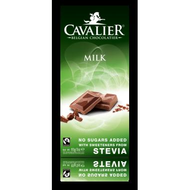 Cavalier Belgium milk Chocolate with stevia 85 g