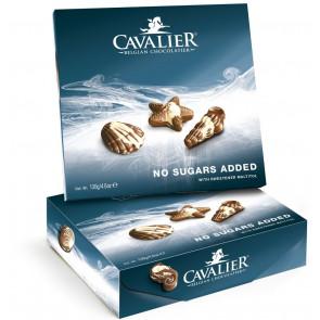 Surtido Océanos de Bombones de chocolate belga sin azúcar Cavalier 130 g