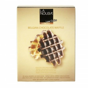 Waffles Belgas com Chocolate Low Carb LaNouba 180 g