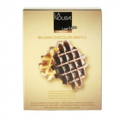 Gofres con chocolate belga low carb La Nouba 180 g