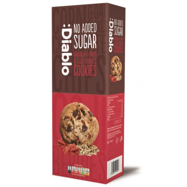 Cookies con Pepitas de Chocolate y bayas de goji sin azúcar :Diablo 130g