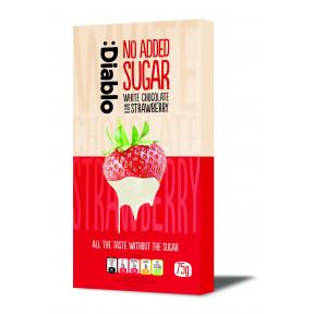Tablette de chocolat blanc à la fraise sans sucre ajouté :Diablo 75 g