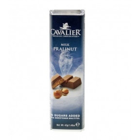 Cavalier Milk chocolate with Praline and Nuts Bar 42 g