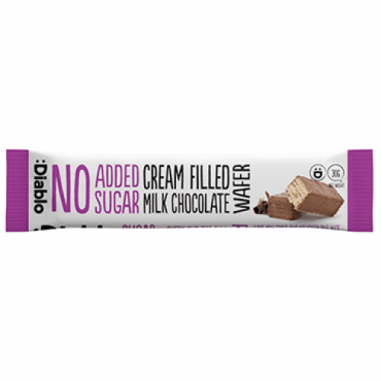 Bolacha cheias leite com chocolate sem adição de açúcar :Diablo 30 g