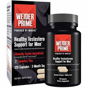 Weider Prime Testosterone Support for Men 60 Capsules