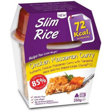 Slim Pasta Arroz Massaman Curry com frango 250 g