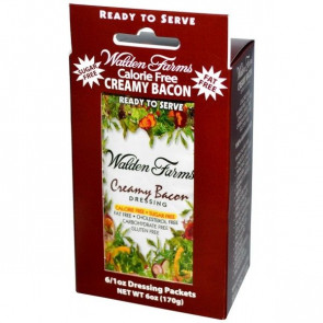 Walden Farms Creamy Bacon Dressing 6 saquetas de 28 g