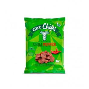 Chips de bovino desidratados CruChips 40g Chili Pepper