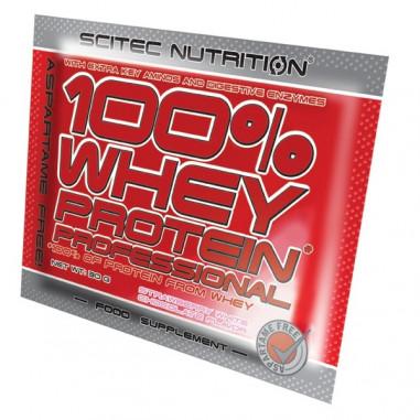 100% Whey Professional Scitec Nutrition citron gateau au fromage unidose 30 g
