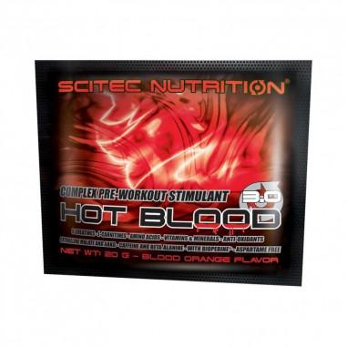 Creatinas Hot Blood 3.0 de Scitec Nutrition Naranja Sanguina monodosis 20 g