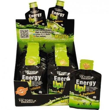 Energy Up! + Caffeine 24 x 40g Gel Victory Endurance Mojito Pack