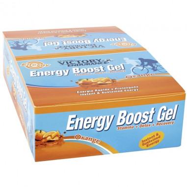 Pack 24 x 42g Energy Boost Gel Laranja Victory Endurance