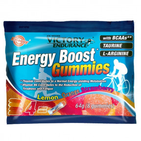 Energy Boost Gummies 64g Victory Endurance Morango Laranja Limão