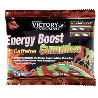 Energy Boost + Caffeine Gummies 64g Victory Endurance Cola