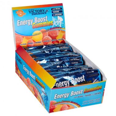 Caja 12 x 64g Energy Boost Gominolas Victory Endurance Naranja Limón Fresa