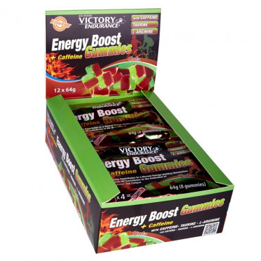Pack 12 x 64g Energy Boost + Cafeina Gummies Victory Endurance Cola