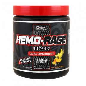 Hemo-Rage Black Ultra Concentrado Melocotón-Piña 285 g Nutrex Research