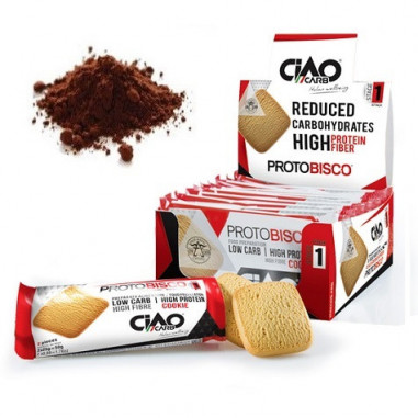 Pack of 10 CiaoCarb Cocoa Protobisco Stage 1 Cookies