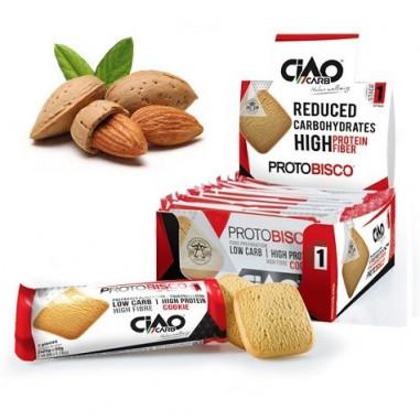 Pack de 10 Biscoitos CiaoCarb Protobisco Etapa 1 Amêndoas