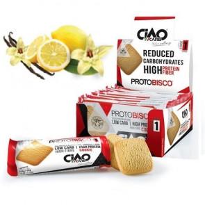 Pack de 10 Biscoitos CiaoCarb Protobisco Etapa 1 Baunilha - Limão