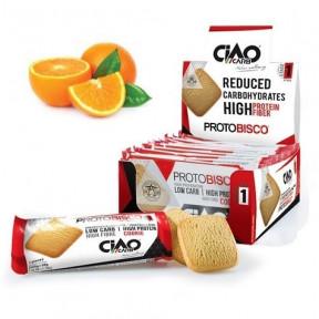 Pack de 10 Biscoitos CiaoCarb Protobisco Etapa 1 Laranja