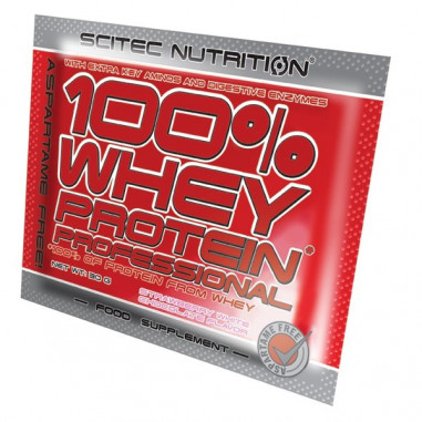 100% Whey Professional Scitec Nutrition Kiwi Banana single-dose 30 g