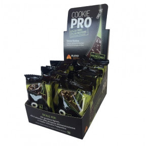 Pack of 24 Alevo Cookie Pro Pistachio Covered with Dark Chocolate Chocolate