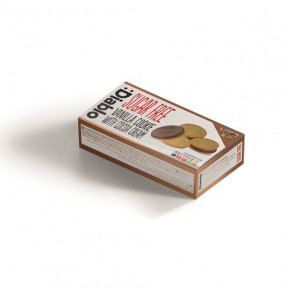 Galletas de Vainilla Rellenas de Crema de Chocolate sin Azúcar :Diablo 176g