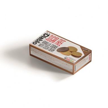 :Diablo Sugar Free Vanilla Sandwich Cookies with Cocoa Cream 176g